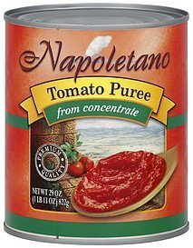 tomato puree from concentrate Napoletano Nutrition info