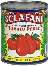 tomato puree heavy concentrated Sclafani Nutrition info