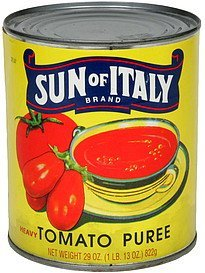 tomato puree heavy Sun of Italy Nutrition info