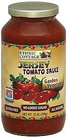 tomato sauce jersey, garden vegetable Ethnic Cottage Nutrition info