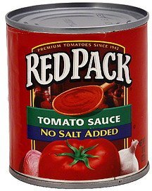 tomato sauce no salt added Red Pack Nutrition info
