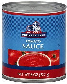tomato sauce Midwest Country Fare Nutrition info