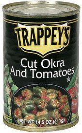 tomatoes and okra Trappeys Nutrition info