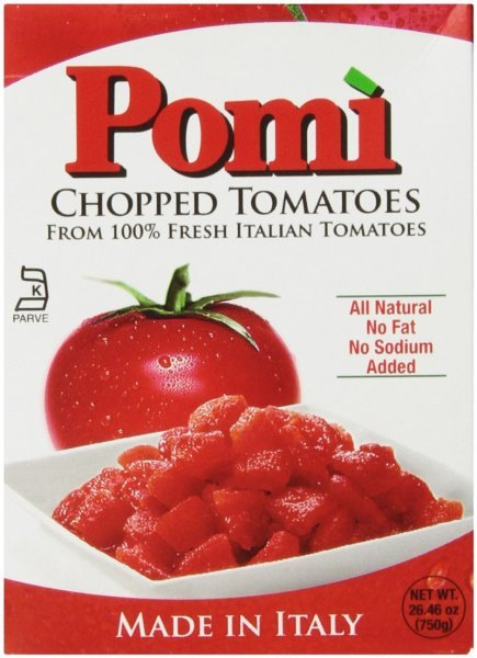 tomatoes chopped Pomi Nutrition info