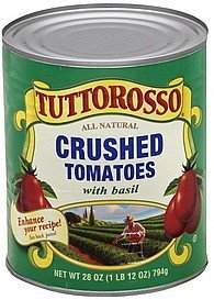 tomatoes crushed, with basil Tuttorosso Nutrition info