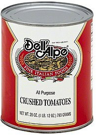 tomatoes crushed Dell'Alpe Nutrition info