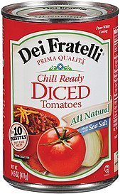 tomatoes diced chili ready Dei Fratelli Nutrition info