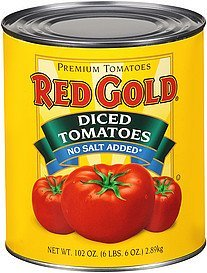 tomatoes diced no salt added Red Gold Nutrition info