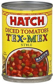 tomatoes diced, tex-mex style, medium Hatch Nutrition info