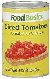 tomatoes diced Food Basics Nutrition info