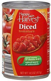 tomatoes diced Happy Harvest Nutrition info