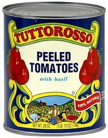 tomatoes peeled, with basil Tuttorosso Nutrition info