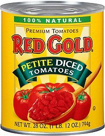 tomatoes petite diced Red Gold Nutrition info