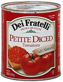 tomatoes petite diced Dei Fratelli Nutrition info