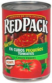 tomatoes petite diced Red Pack Nutrition info