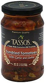 tomatoes sundried, with garlic and herbs Tassos Nutrition info