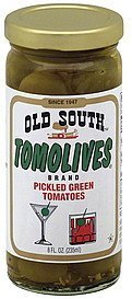 tomolives pickled green tomatoes Old South Nutrition info