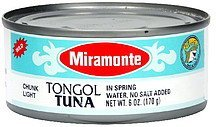 tongol tuna in spring water Miramonte Nutrition info