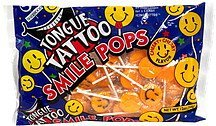 tongue tattoo smile pops cherry flavor Sherwood Nutrition info