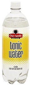 tonic water Our Family Nutrition info