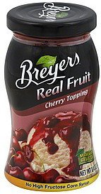topping real fruit, cherry Breyers Nutrition info