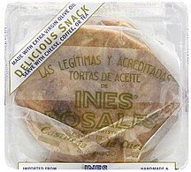 tortas savory olive oil, rosemary & thyme Ines Rosales Nutrition info