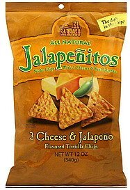 tortilla chips 3 cheese & jalapeno flavored El Sabroso Nutrition info
