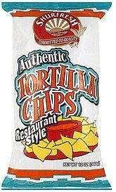 tortilla chips authentic, restaurant style Shurfresh Nutrition info
