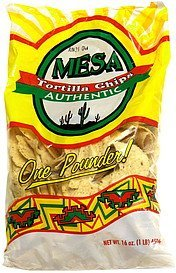 tortilla chips authentic Mesa Nutrition info