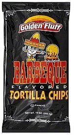 tortilla chips barbeque flavored Golden Fluff Nutrition info