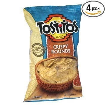 tortilla chips crispy rounds Tostitos Nutrition info