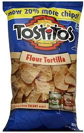 tortilla chips flour Tostitos Nutrition info