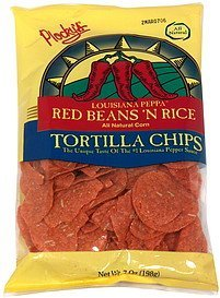 tortilla chips louisiana peppa red beans n rice Plockys Nutrition info