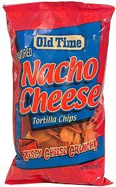 tortilla chips nacho cheese Old Time Nutrition info