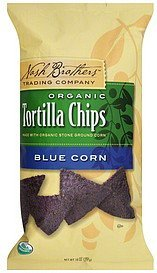tortilla chips organic, blue corn Nash Brothers Trading Company Nutrition info
