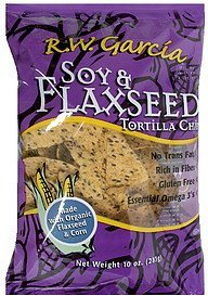 tortilla chips soy & flaxseed R.W. Garcia Nutrition info