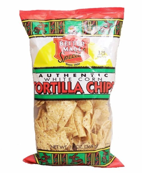 tortilla chips white corn Better Made Nutrition info