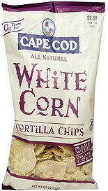 tortilla chips white corn Cape Cod Nutrition info