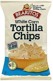 tortilla chips white corn Bearitos Nutrition info