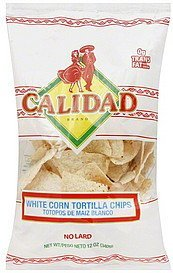 tortilla chips white corn Calidad Nutrition info