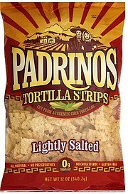 tortilla strips lightly salted Padrinos Nutrition info