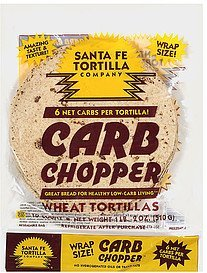 tortillas carb chopper wheat Santa Fe Tortilla Company Nutrition info