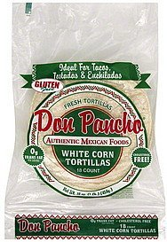 tortillas white corn Don Pancho Nutrition info