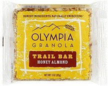 trail bar honey almond Olympia Granola Nutrition info