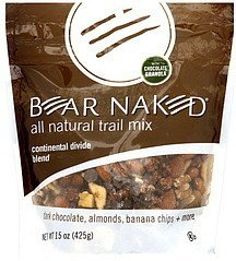 trail mix all natural, continental divide blend Bear Naked Nutrition info