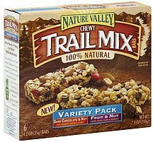 variety pack chewy trail mix bars Nature Valley Nutrition info