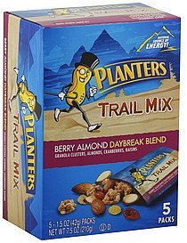 trail mix berry almond daybreak blend Planters Nutrition info
