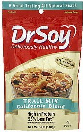 trail mix california blend DrSoy Nutrition info