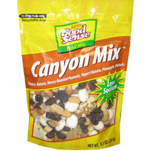 trail mix canyon mix Good Sense Nutrition info