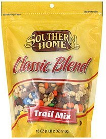 trail mix classic blend Southern Home Nutrition info